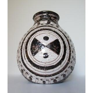 C.1960s Mid-Century Modern Aldo Londi for Bitossi /Rosenthal Netter Ceramic, Clay Bulbous Vessel, Vase Preview