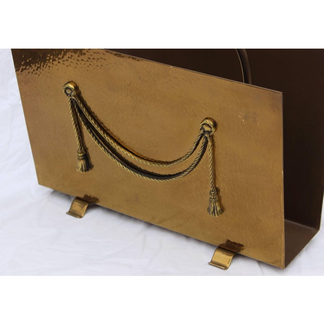 English Brass Magazine Holder by Peerage For Sale In New York - Image 6 of 11