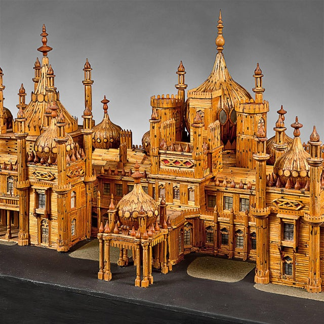 Royal Brighton Pavilion Matchstick Architectural Model by Bernard Martell For Sale In New York - Image 6 of 13