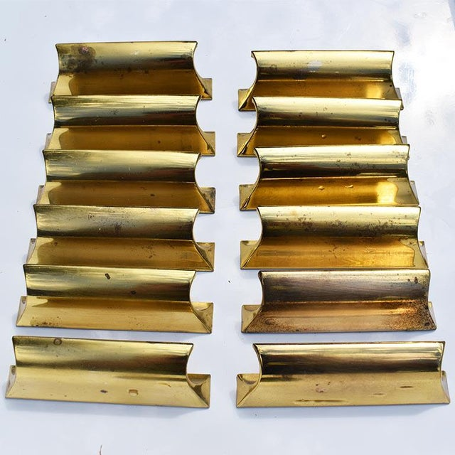 Vintage Gold Sherle Wagner Cabinet Drawer Edge Pulls - Set of 12 (36 Available) Circa 1970 For Sale - Image 6 of 10