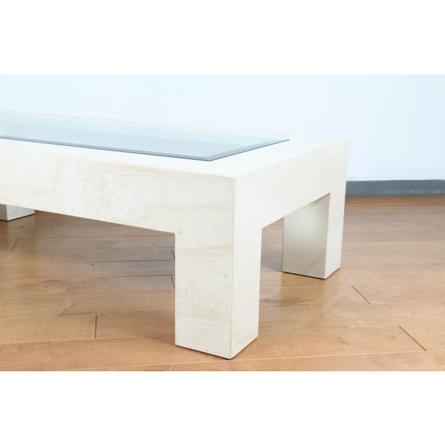 Mid Century Travertine Coffee Table For Sale - Image 4 of 8