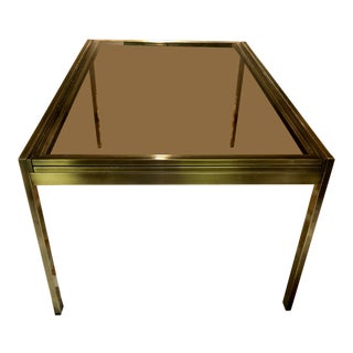 Mid-Century Modern Milo Baughman for d.i.a. Brass Extendable Dining Table For Sale