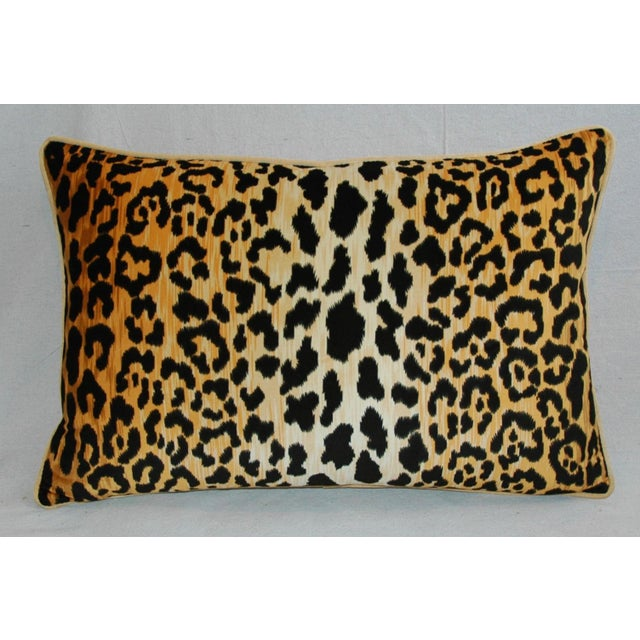 "Cotton Hollywood Glam Leopard Spot Safari Velvet Pillows 26"" X 18"" - Pair For Sale - Image 7 of 14"
