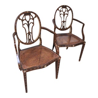 Italian Painted Wooden Chairs- A Pair For Sale
