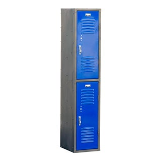 1970s Vertical Locker Cabinet,Refinished in Royal Blue For Sale
