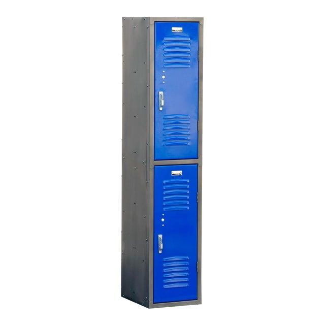 1970s Vertical Locker Cabinet,Refinished in Royal Blue For Sale