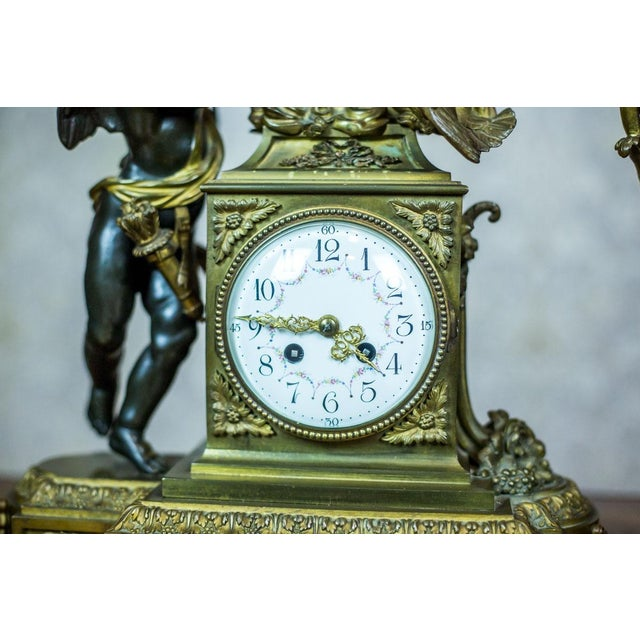 Mid 19th Century French Mantel Clock Set, Circa 19th Century For Sale - Image 5 of 13