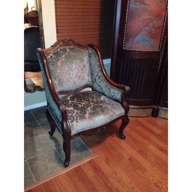 Handcrafted French Louis XV Style Bergere Chair - Image 2 of 10