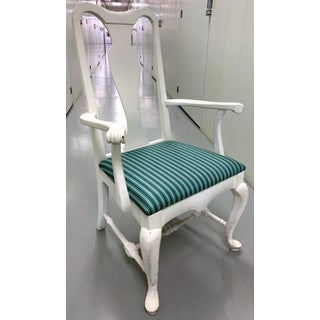Pair of White Painted Queen Anne Armchairs by Brockschmidt & Coleman Preview