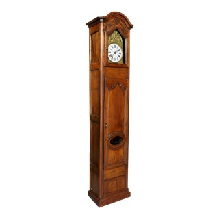 Louis XVI Provincial Fruitwood Tall Case Clock For Sale