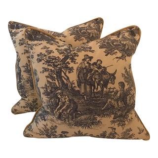 Vintage Toile Pillows - a Pair
