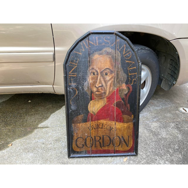 English Handpainted Pub Sign For Sale In Atlanta - Image 6 of 6