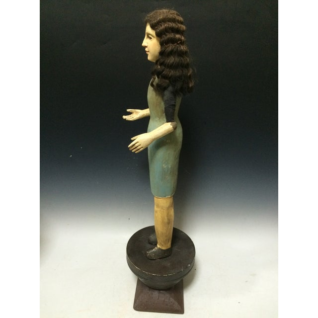 Handcarved Wood Articulated Female Mannequin For Sale - Image 9 of 11