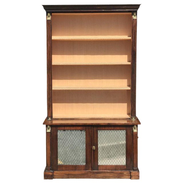 19th C. French Rosewood Bookcase For Sale