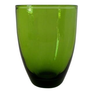 Holmegaard Olive Glass Vase For Sale