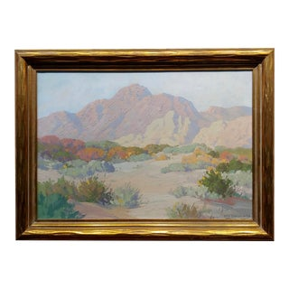 Carl Sammons - Palm Springs Desert Landscape - Oil Painting For Sale
