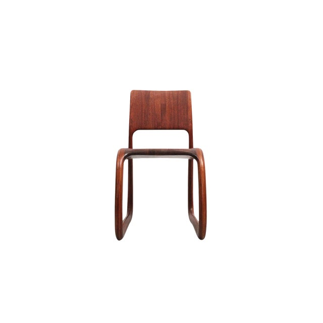 Sculptural Walnut Chair by David Flatt For Sale