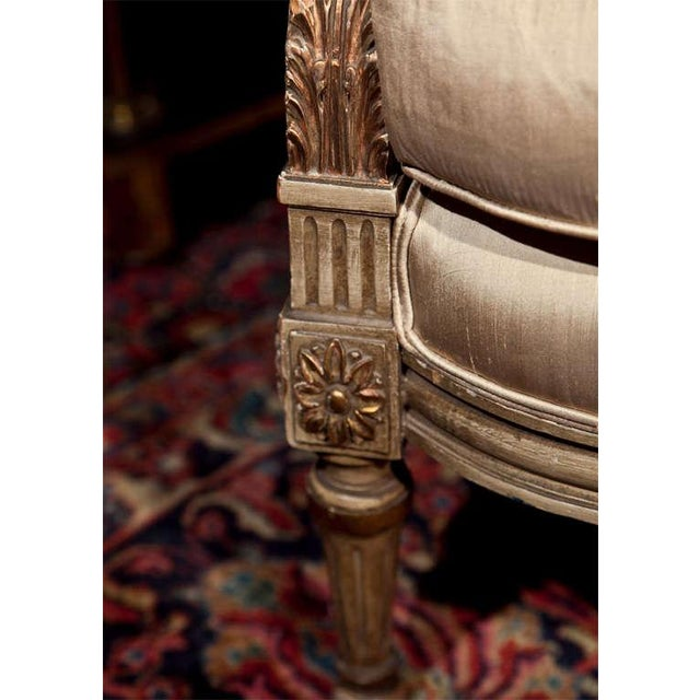 1940s French Louis XVI Style Bergère Chairs - A Pair For Sale - Image 5 of 11