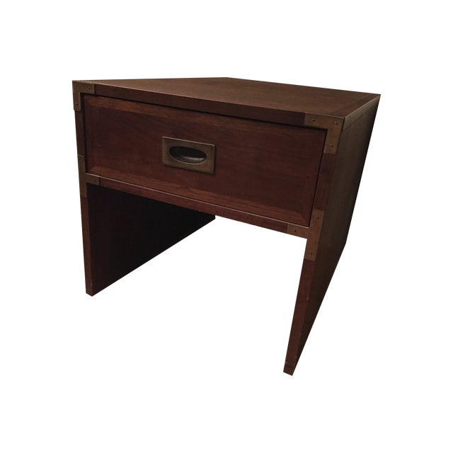 Lane Campaign Style Side Table/Night Table - Image 2 of 8