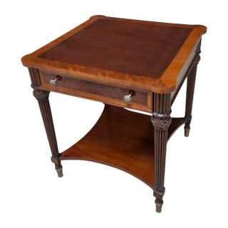 Traditional Square Mahogany End Table For Sale