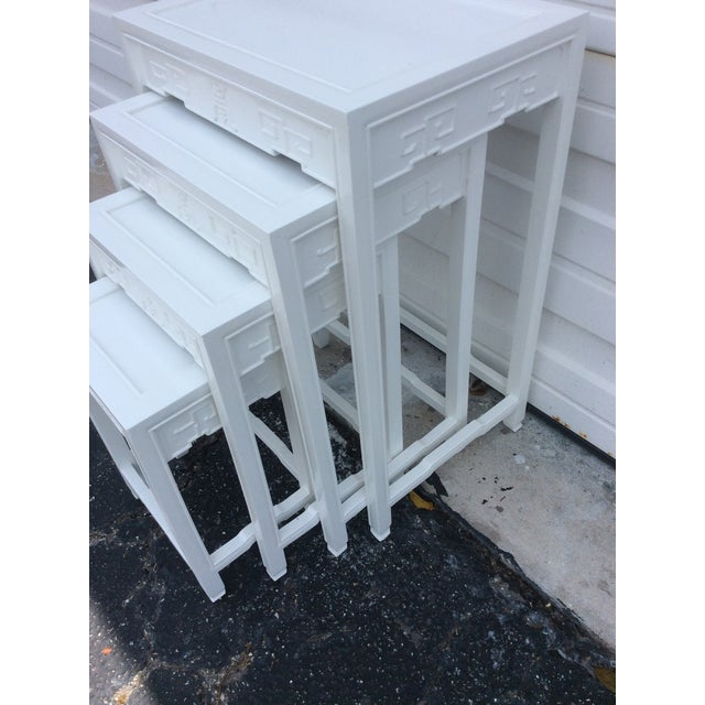 20th Century Chinese Lacquered Nesting Tables - 4 Pieces For Sale In Miami - Image 6 of 13