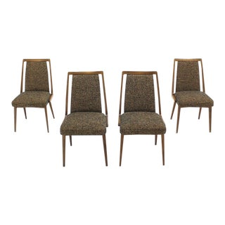 Mid-Century Modern Upholstered Dining Chairs - Set of 4 For Sale
