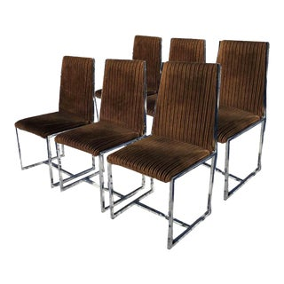 1970s Milo Baughman Style Dining Chairs - Set of 6