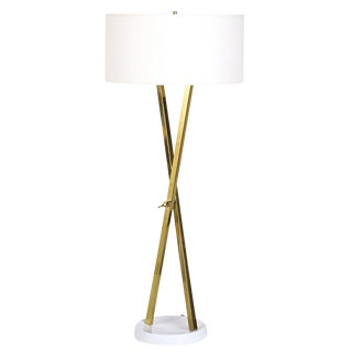 Laurel Brass X Standing Lamp, Circa 1960