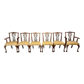 Chippendale Upholstered Dining Chairs - Set of 6