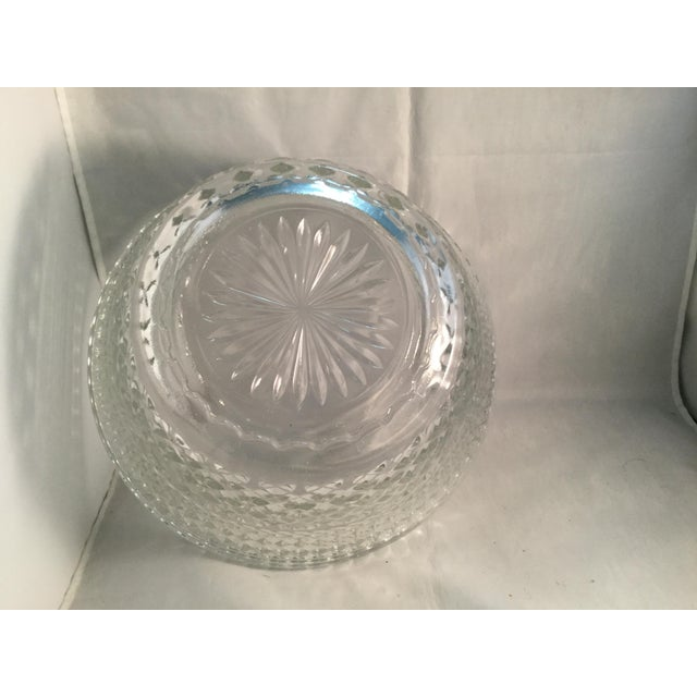 Diamond Cut Pattern Crystal Bowl For Sale - Image 9 of 10