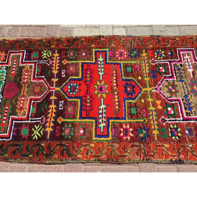 Vintage Hand Knotted Turkish Runner - 2′11″ × 14′5″ - Image 4 of 7