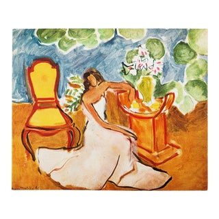 "1946 Henri Matisse Original ""Girl in the White Dress"" Parisian Period Lithograph For Sale"