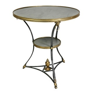 Louis XVI Style Gilt Bronze and Marble Gueridon Table For Sale