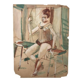 Mid Century Modern Female Figure Painting by Robert Colborne For Sale