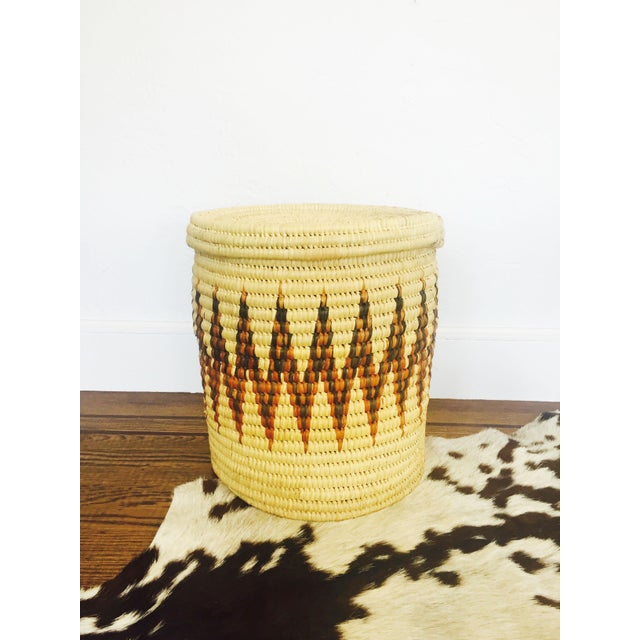 Large Vintage Coil Basket or Hamper - Image 2 of 6