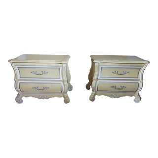 Mid-Century French Provincial Nightstands - A Pair For Sale