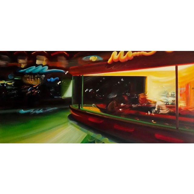 "Alexandra Pacula ""Nighthawks"" Painting - Image 1 of 7"
