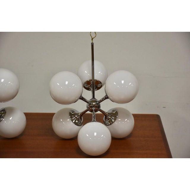 Mid-Century Modern Lightolier Chrome Sputnik Chandeliers- Set of 3 For Sale - Image 3 of 9