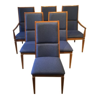 Mid-Century Walnut Kroehler Dining Chairs - Set of 6 For Sale