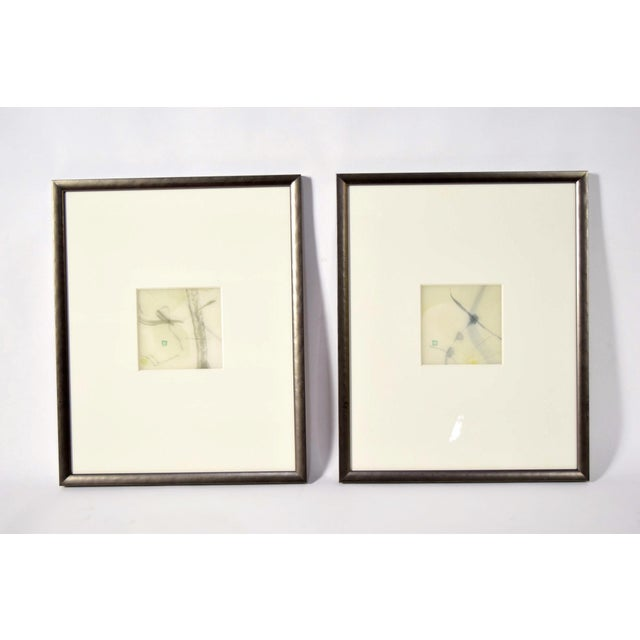"""Two original artworks by Chaco Terada. """"Sign of Flower"""" and """"Whistle of Flower"""". Dated 2005. Matted size is 21 x 16"""" each...."""