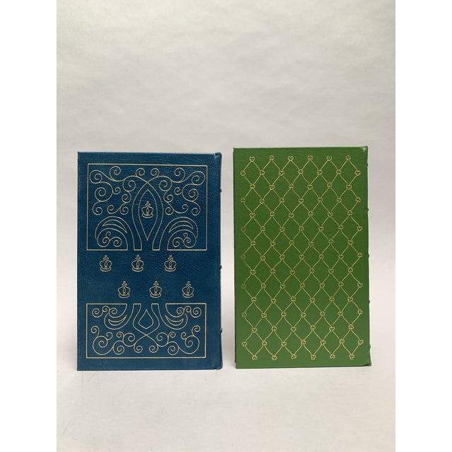 Mid 20th Century Easton Press Vintage Leatherbound Books, Blue and Green - Set of 5 For Sale - Image 5 of 13