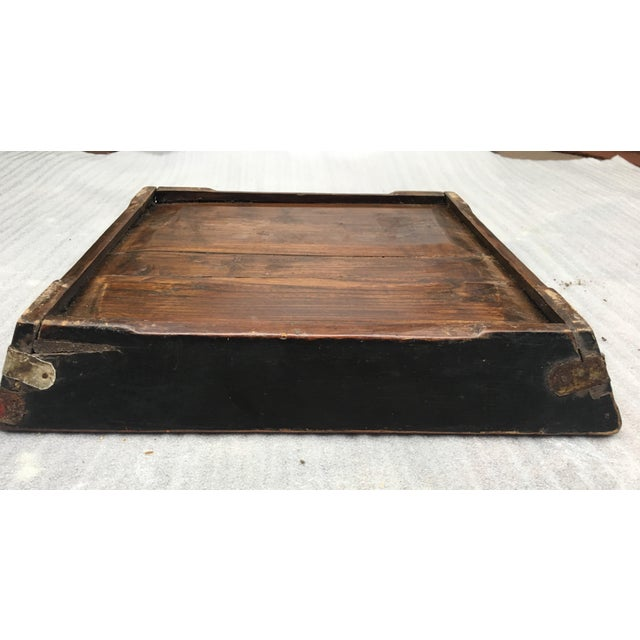 Antique Zebra Painted Wooden Tray For Sale - Image 11 of 11