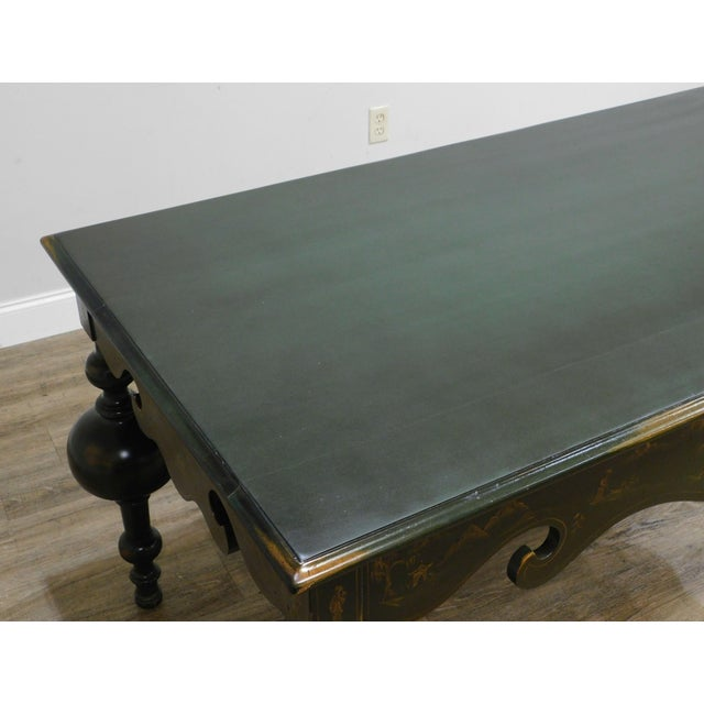 Wood Banks Coldstone Co. Handpainted Green Table For Sale - Image 7 of 13