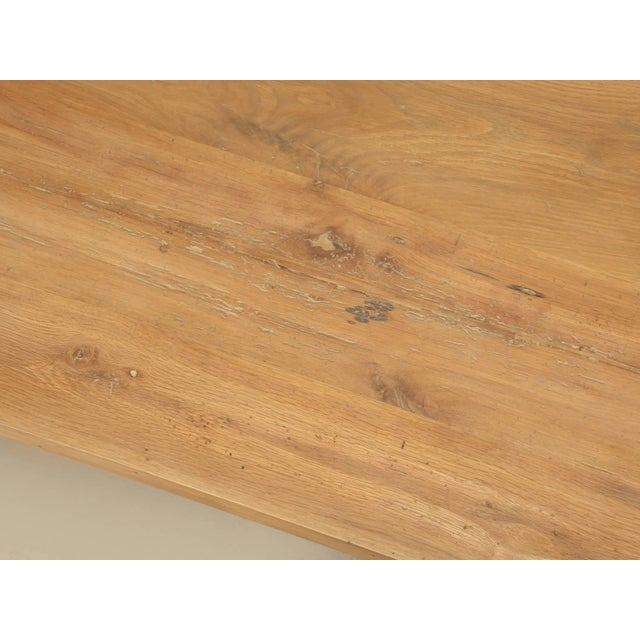 French Industrial Inspired Kitchen Table From French White Oak and Steel For Sale - Image 3 of 10
