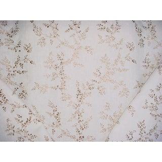 Brunschwig & Fils Shadow Fern Bronze Linen Upholstery Fabric - 4 7/8 Yards For Sale