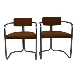 Vintage Chrome Chairs - a Pair For Sale