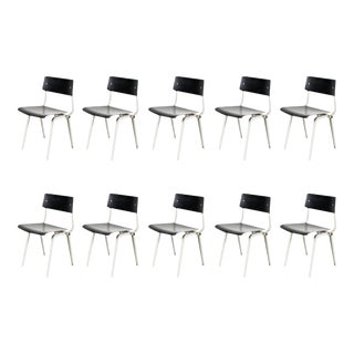 Rare Set of Ten Friso Kramer Theater Chairs, 1959