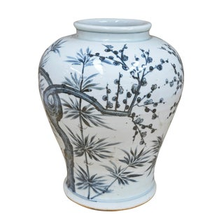 Sarreid Ltd. Hand Painted Trees Vase For Sale