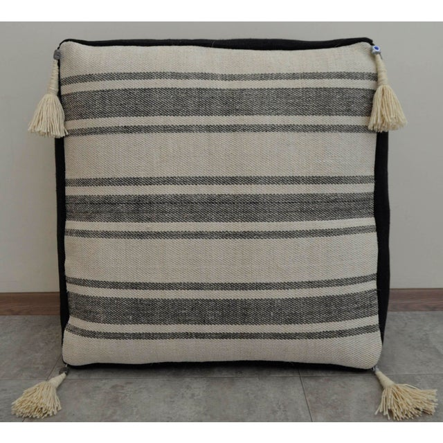2010s Turkish Handmade Kilim Floor Cushion For Sale - Image 5 of 7