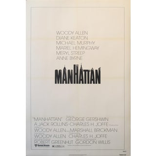 1979 Hollywood Movie Poster, Woody Allen's Manhattan For Sale